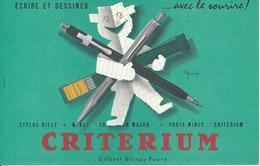 BUVARD - Ecrire Et Dessiner, CRITERIUM - Stationeries (flat Articles)