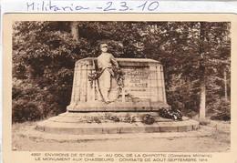 Militaria : Monument Aux Morts  ( ST. DIE ) Monument Aux Chasseurs - Au Col De La Chipotte - Monumenti Ai Caduti
