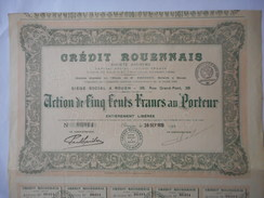 Credit ROUENNAIS 1920 ROUEN Rue Grand Pont - Banca & Assicurazione