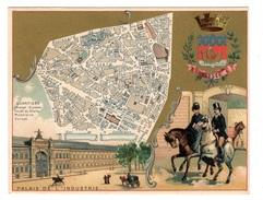 Plan Du 8ème Arrondissement - Chromos