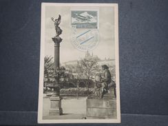 TCHÉCOSLOVAQUIE - Oblitération En Bleu De Prague Aviation  Sur Carte Postale En 1935 - L 10375 - Tchécoslovaquie