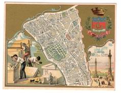 Plan Du 20ème Arrondissement - Chromos