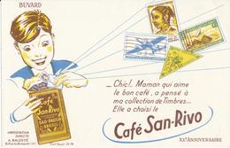 BUVARD - Café SAN RIVO - Timbres, Philatélie - Coffee & Tea