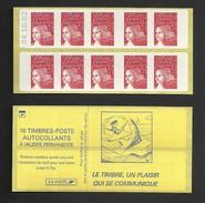 Carnet Marianne De Luquet 3419 C3  Sans Phosphore Daté  Livraison Gratuite - Freimarke