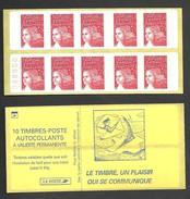 Carnet Marianne De Luquet 3419 C3  Sans Phosphore Avec Numéro  Livraison Gratuite - Freimarke