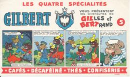 BUVARD - Cafés GILBERT - Aventures De Gilles Et Bertrand - Coffee & Tea