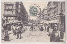 CPA MARSEILLE La Rue Noailles Tramway - Canebière, Centro Città