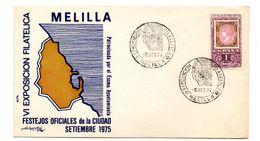 Carta Con Matasellos Commemorativo Expo. Filatelica Melilla 1975 - 1931-Hoy: 2ª República - ... Juan Carlos I