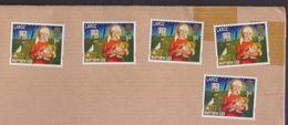MATTHEW 123, Christmas, LARGE 1st 5 Unused Stamps On Paper, Great Britain UK GB - 1952-.... (Elizabeth II)