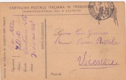 Cartolina Postale Italiana In Franchigia - R. Esercito (ak1200) - 1900-44 Victor Emmanuel III.