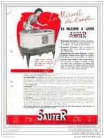 75 11.128 PARIS SEINE 19.. PUBLICITE Machine ˆ Laver SAUTER  - -Elida Sauter Avenue De La Grande Armee - Advertising