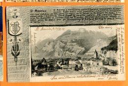 Z079, St.-Maurice, 1109, Brevet 24610 Zachmann Tramelan, Précurseur,  Circulée 1904 - VS Valais