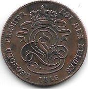 *belguim 2 Centimes 1846 Vf+ - 1831-1865: Léopold I