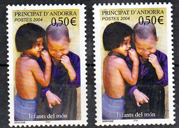 Andorre 592  Variétés Clair Gris Et Foncé Noir Enfants Neuf ** TB MNH Sin Charnela - Andorre Français