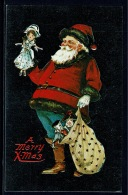 RB 1180 -  U.S.A. Father Christmas With Sack & Toy - Reproduction Postcard - Postcards