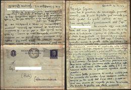Biglietto Postale Con Notizie Internato Campo Di Tschenstochau. Viaggiata 1943 - War 1939-45