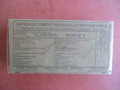 Legion Etrangere Armée Française Ration De Combat Individuelle Rechauffable  N° 9 Porc Creole Riz Ananas - Uitrusting