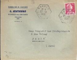 CHARENTE - 16 - BONNES  TàD De Type F7 De 1956 - Postmark Collection (Covers)