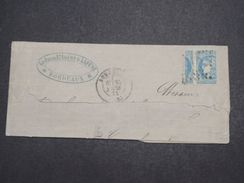 FRANCE - Type Bordeaux 1 Timbre Et Demi Sur Grand Fragment  De Bordeaux En 1871 - L 10386 - Poststempel (Briefe)
