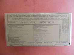 Legion Etrangere Armée Française Ration De Combat Individuelle Rechauffable  N° 13   Potée Paysanne - Uitrusting