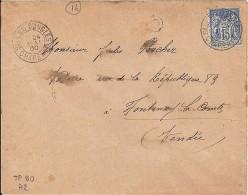 CHARENTE - 16 - SALLES D'ANGLES  TàD De Type A2 De 1900 - Postmark Collection (Covers)