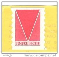 TIMBRE FICTIF POUR REGLAGE DISTRIBUTEUR Type Briat Issus De Carnet 2874-C4 HEFTCHEN AUTOCOLLANT ADHESIF ** MNH NEUF - Phantom