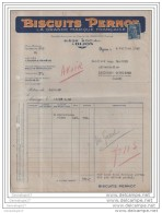 21 211 DIJON COTE D' OR 1948 Biscuiterie BISCUITS PERNOT Usines DIJON Et  GENEVE - Alimentare