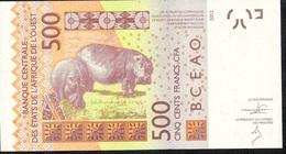W.A.S. TOGO   P819Tb  500 FRANCS   (20)13 UNC. - Togo
