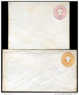 BRIT. INDIA - Two Unused Postal Covers (perfect) VF - 1882-1901 Imperio