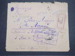 RUSSIE - Enveloppe En Recommande Enakievo Pour La France En 1917 Avec Contrôle Postal - L 10391 - Covers & Documents
