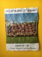 5899 - FC Attalens 1ère équipe Saison 91-92 Suisse - Soccer