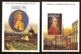 Saint-Vincent   Grenadines  1991 Yvertn° Bloc 56-57 *** MNH Cote 12 Euro Mozart Musique - St.Vincent (1979-...)