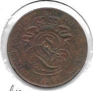 *belguim 2 Centimes 1864/61  Meer Ruimte Tussen Bovenstuk 1 En Bovenstuk 4,kijk Normale 4  Vf - 1831-1865: Leopold I
