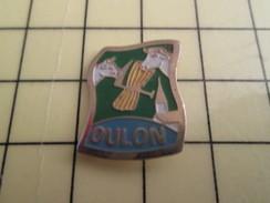 Pin416A Pin's Pins / Beau Et Rare : VILLES / VILLE DE OULON TETES DE VACHES VACHE FAUX GERBE DE BLE - Villes