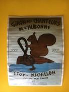 5905  - Giron Des Chanteurs De L'Aubonne 2001 Etoy-Aubonne Suisse Ecureuil - Musique