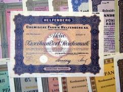 154 Verschiedene HWPs Dresden 1924-1943 Deko - Aandelen