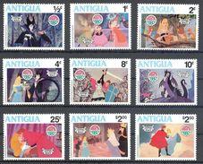 MWD-BK1-012-2 MINT PF/MNH ¤ ANTIGUA 1980 9w In Serie ¤ THE WORLD OF WALT DISNEY -- FRIENDS OF WALT DISNEY - Disney