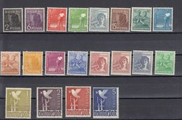 AAS - DEUTSCHLAND - ALLEMAGNE - GERMANIA - 1947 - 20 Valori MNH Yvert 32/41 E 43/52. - Zona AAS