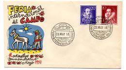 Carta Con Matasellos Commemorativo Feria Internacional Del Campo 1953 - 1951-60 Storia Postale