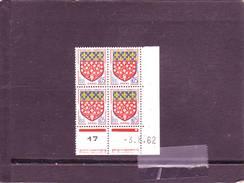 N° 1352 - 0,05F Blason D'AMIENS - B De  A+B - 1° Tirage Du 5.7.62 Au 4.8.62 - 3.08.1962 - - 1960-1969