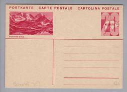 Schweiz Ganzsache Bildpostkarte #130-045 Pontresina Ungebraucht - Entiers Postaux