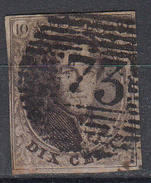 BELGIË - OBP - 1858/61 - Nr 10/10A (P73) - 4 Marges - Coba + 1 - Postmark Collection