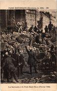 PARIS HISTORIQUE (révolution De 1848) Les  Barricadres à La Porte St Denis (Février 1848 - Sonstige