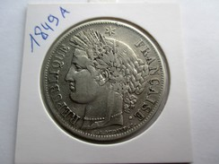 France 5 Francs, 1849 A - J. 5 Franchi