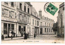 La Flèche / La Poste / Patisserie / Pharmacie / 1908 / Ed. Dabin - La Fleche