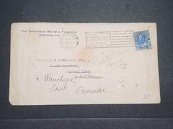 CANADA - Enveloppe De Montréal Pour La France Et Redirigé Vers Le Canada En 1912 , Oblitération Plaisante - L 10412 - 1911-1935 Règne De George V