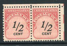 US  J88 (**)  Og Nh  Horz Pair - Postage Due
