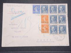 FRANCE - Enveloppe En Pneumatique De Paris En 1935 , Affranchissement Plaisant - L 10414 - Postmark Collection (Covers)