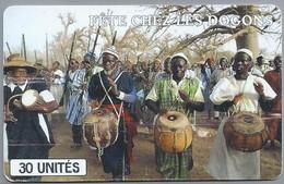 ML.- Telefoonkaart. SOTELMA. MALI. FETE CHEZ LES DOGONS. 30 UNITES. 2 Scans. - Mali