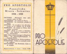 Kalender Calendrier 1938 - 1939 - Pro Apostolis - Klein Formaat: 1921-40